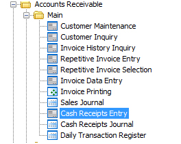 how to reverse a cash receipt dsd business systems