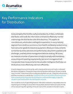 KPIs-for-Distribution - Acumatica Cloud ERP