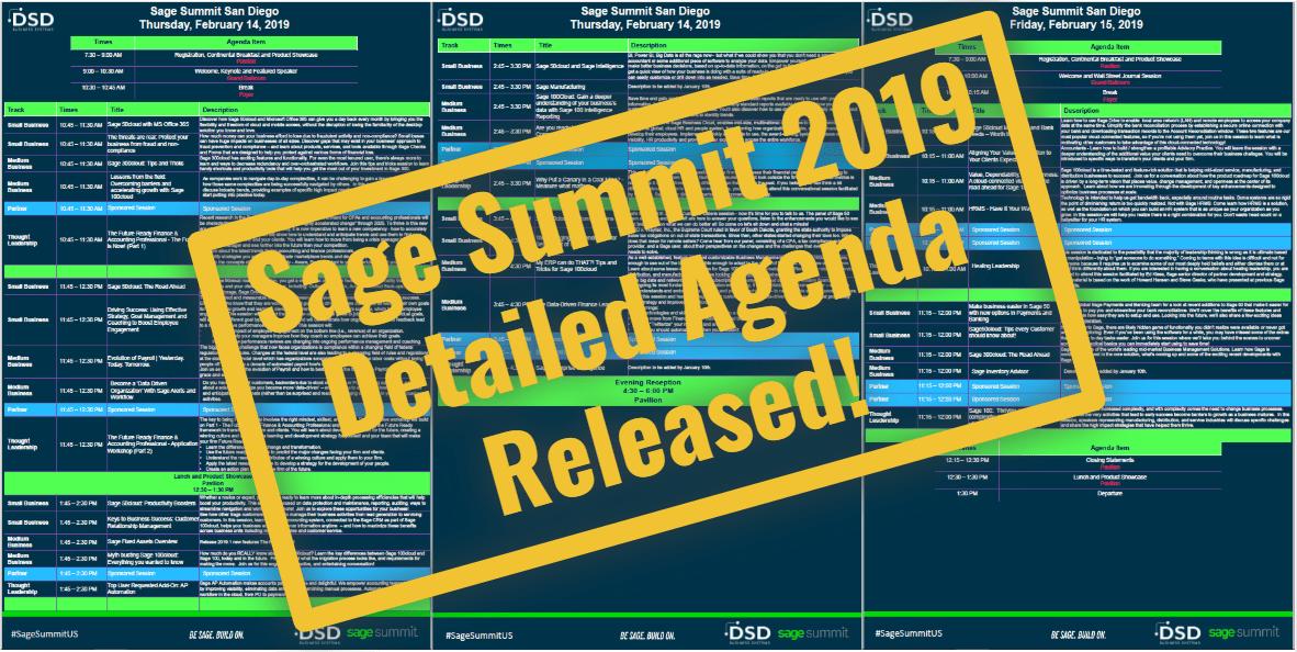 Sage Summit San Diego 2019 Agenda Released!