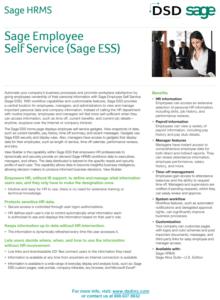 Sage HRMS Employee Self Service Module