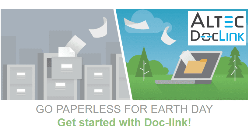 Paperless for Earth Day Webinar - Doc-link by Altec