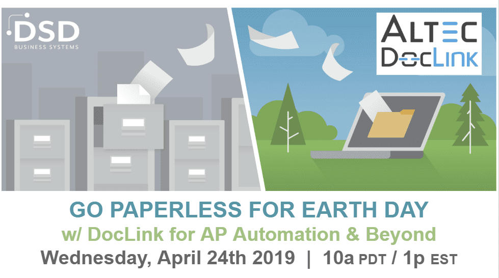 Go Paperless for Earth Day w/ DocLink for AP Automation & Beyond