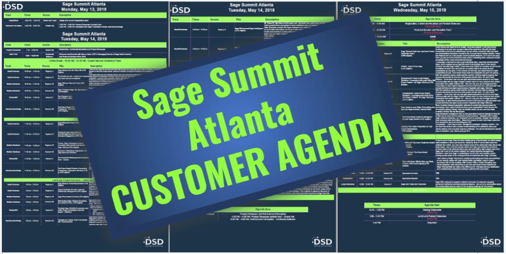 Sage Summit Atlanta: Customer Agenda - DSD Business Systems