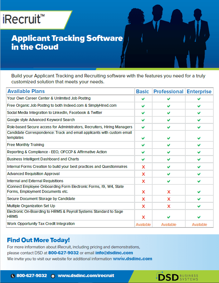 iRecruit Applicant Tracking Software in the Cloud