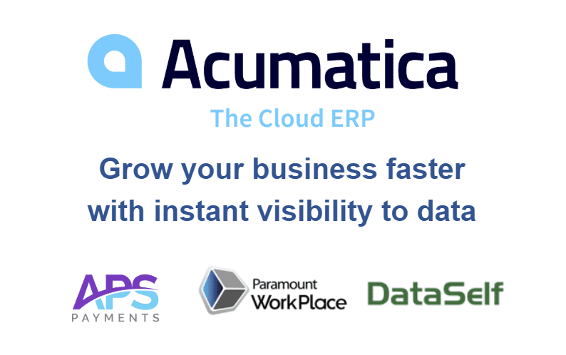 Acumatica Cloud ERP + APS + Paramount Workplace + DataSelf