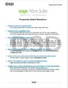 Sage Abra End of Life FAQ Document