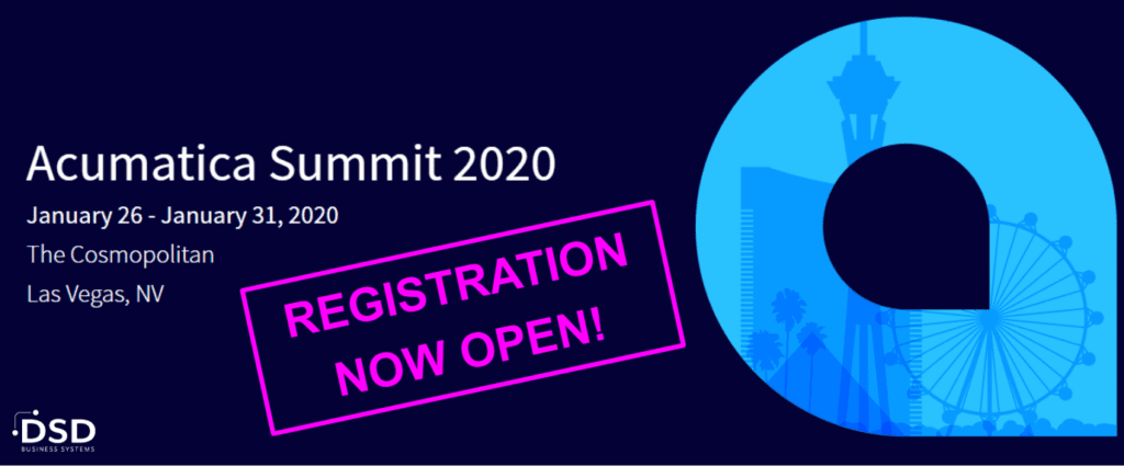 Acumatica Summit 2020 will be held January 26 - January 31, 2020 at the The Cosmopolitan in Las Vegas, NV - Register Today!