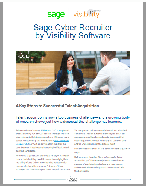 Sage Cyber Recruiter - 4 Key Steps to Successful Talent Acquisition