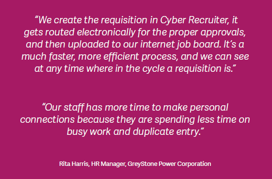 Sage HRMS Customer Success with Cyber Recruiter & Sage Cyber Train