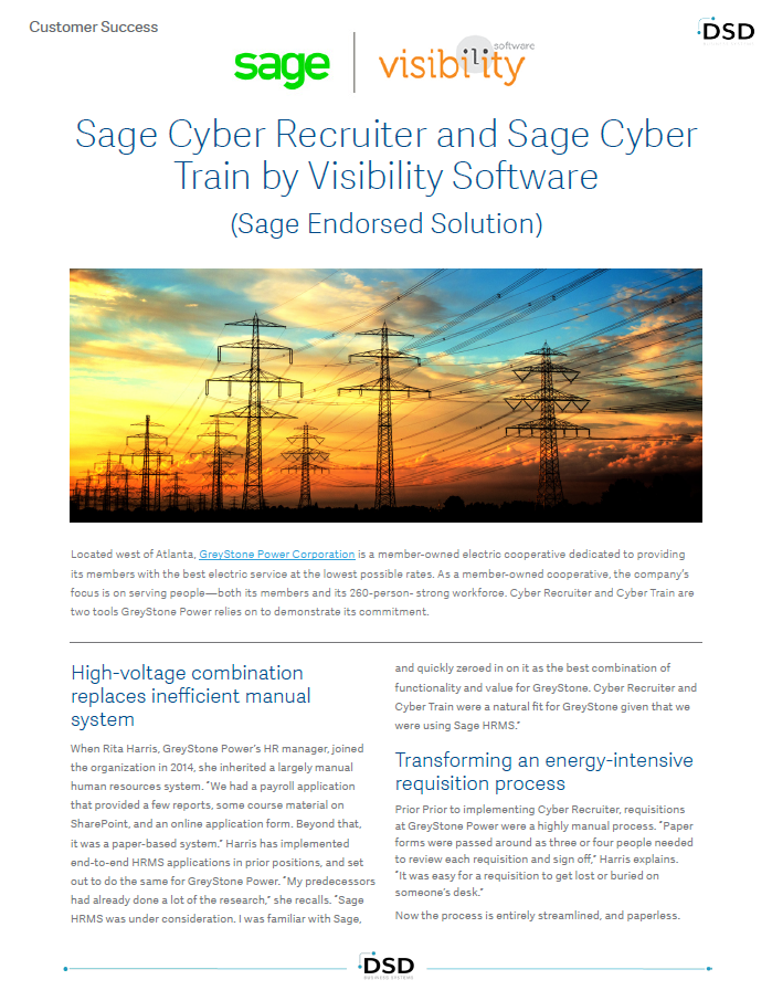Sage HRMS Cyber Recruiter Cyber Train