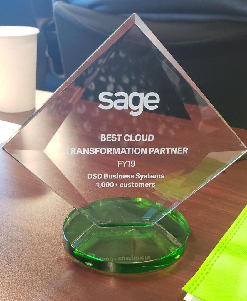 DSD Sage Partner Award 2019 - Best Cloud Transformation Partner