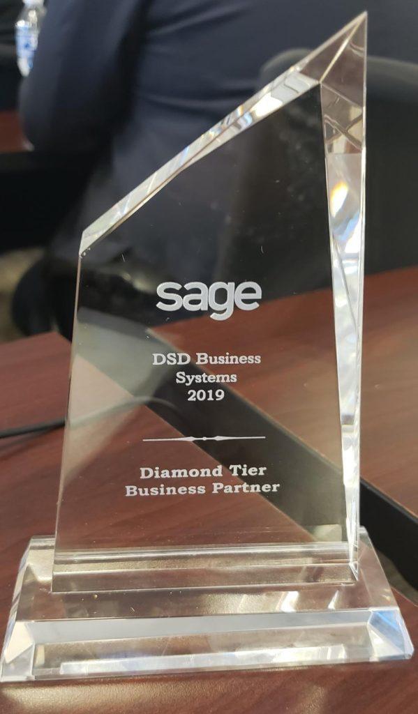 DSD Sage Diamond Tier Business Partner Award 2019
