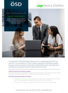 Sage Alerts & Workflow Data Needs Assessment