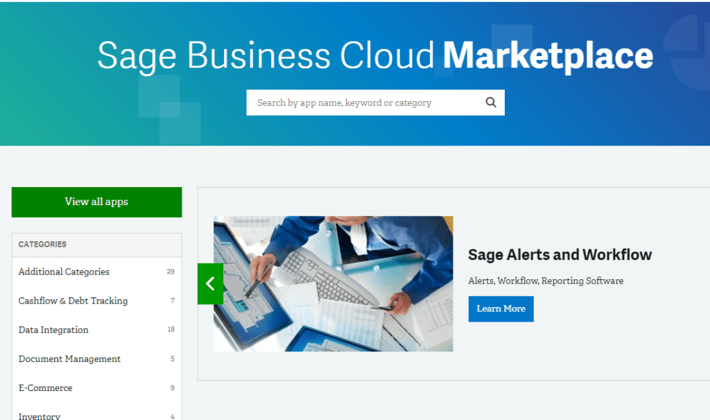 Sage Business Cloud Marketplace NOW OPEN