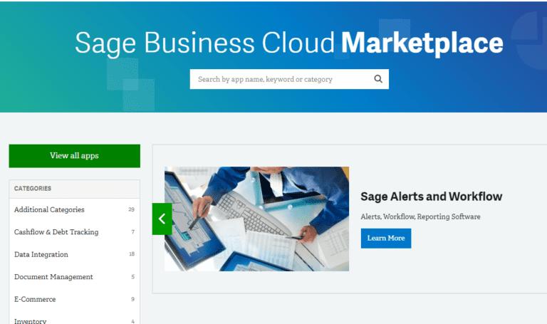 Sage Business Cloud Marketplace NOW OPEN