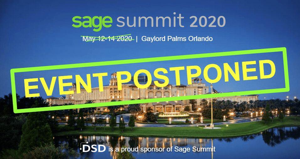 Sage Summit Orlando 2020 POSTPONED