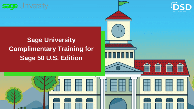 Complimentary Training for Sage 50 U.S. Edition