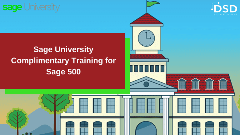 Complimentary Training for Sage 500 ERP