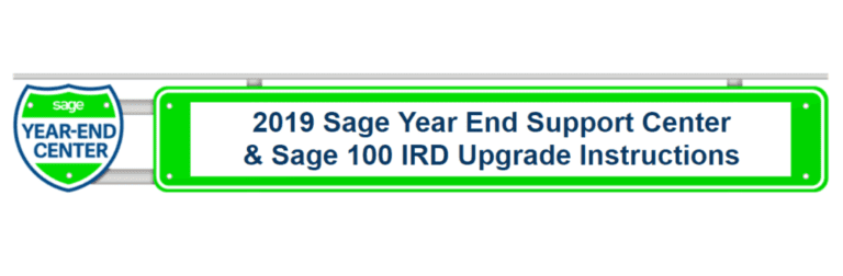 SAGE YEAR END SUPPORT CENTER LINKS + UPGRADE INSTRUCTIONS FOR 2019