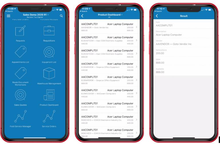Acumatica Mobile Framework 7