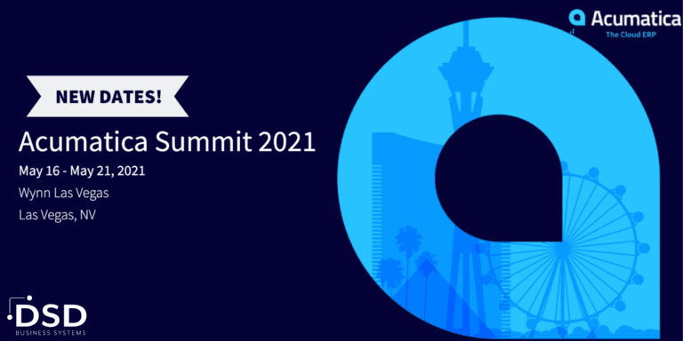 ACUMATICA SUMMIT 2021 POSTPONED TO MAY