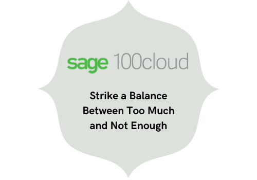 strike a balance between too much and not enough