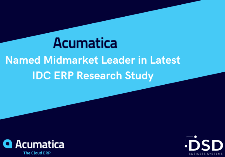 Acumatica Named Midmarket Leader in Latest IDC ERP Research Study