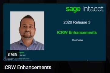 Sage Intacct 2020 R3 ICRW