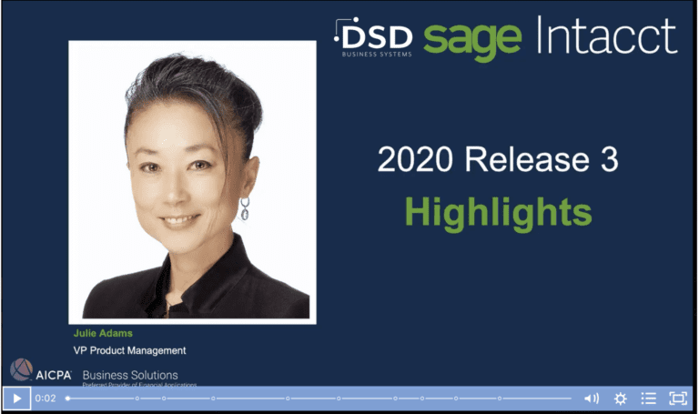 sage intacct 2020 release 3 video