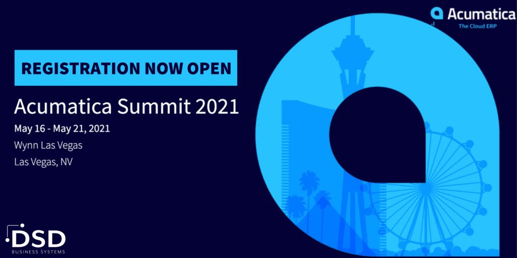 Acumatica Summit 2021 Registration Now Open