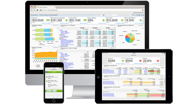 Sage Intacct Cloud Accounting Dashboards