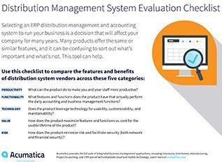 Acumatica-Distribution-ERP-Evaluation-Checklist