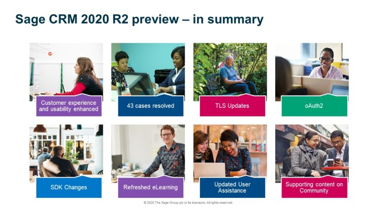 SAGE CRM 2020 R2 PREVIEW IN SUMMARY