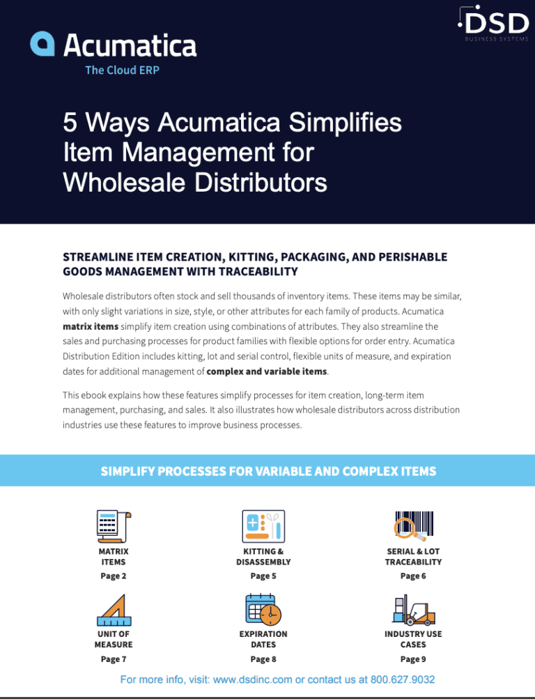 5 Ways Acumatica Simplifies Item Management for Wholesale Distributors