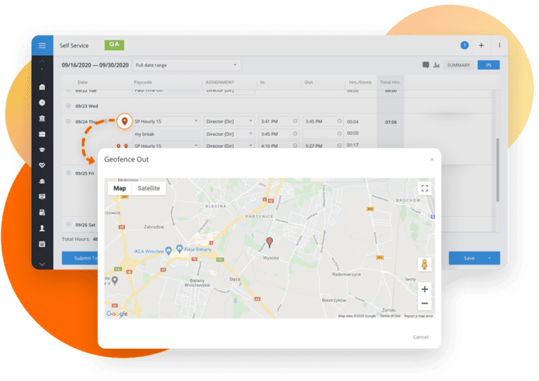 Timesheets: Viewing Geolocations on Map