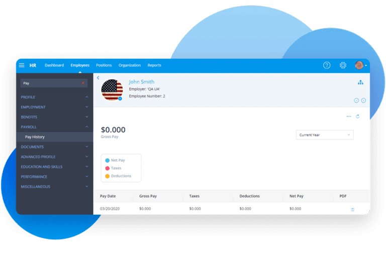 Employee Profile: Pay History Available