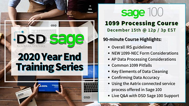 1099 Processing with Sage 100