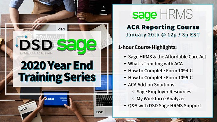 ACA Reporting with Sage HRMS