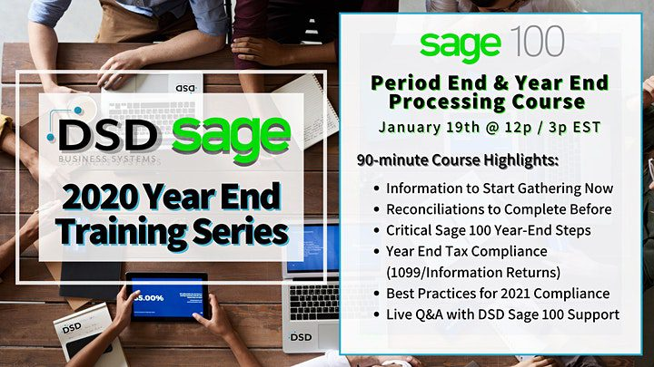 Sage 100 Period End & Year End Processing