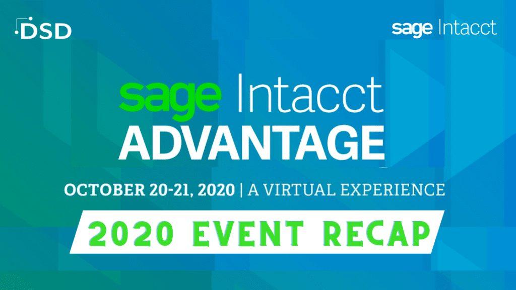 Sage Intacct Advantage 2020 Recap