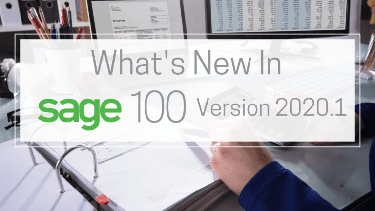 What's New in Sage 100 Version 2020.1
