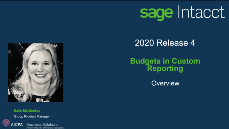 budgets in custom reporting