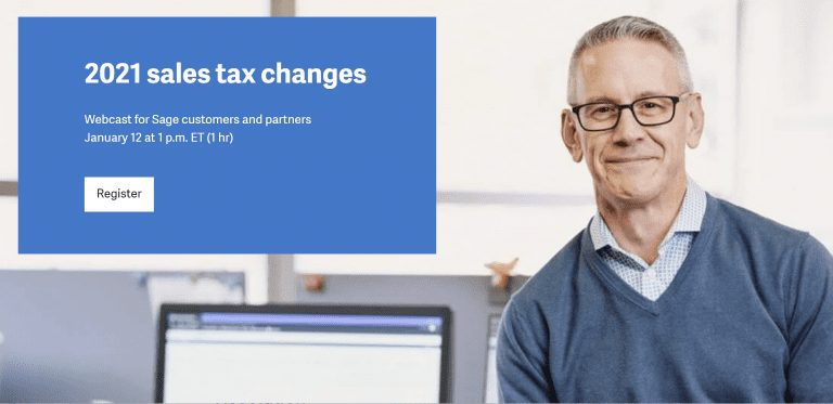 2021 Sales Tax Changes for Sage 100