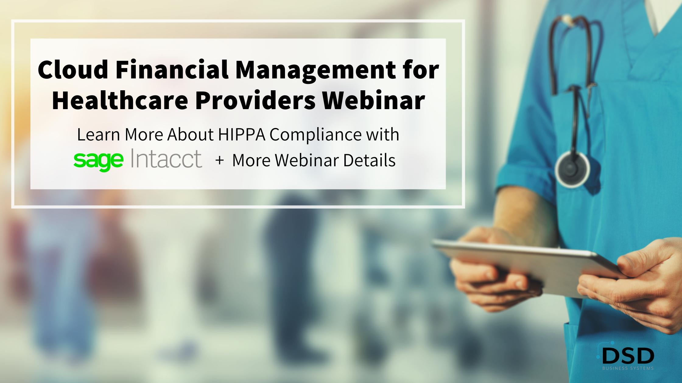 Cloud Financial Management for Healthcare Providers Webinar