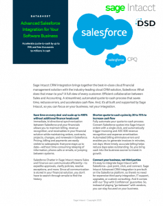 Sage Intacct Salesforce Integration