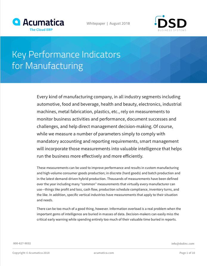 Manufacturing KPIs, KPIs for Manufacturers