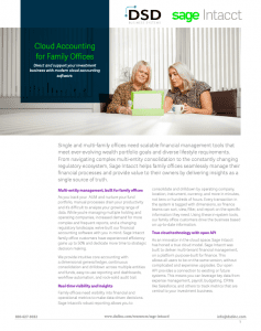 Cloud Accounting for Family Offices