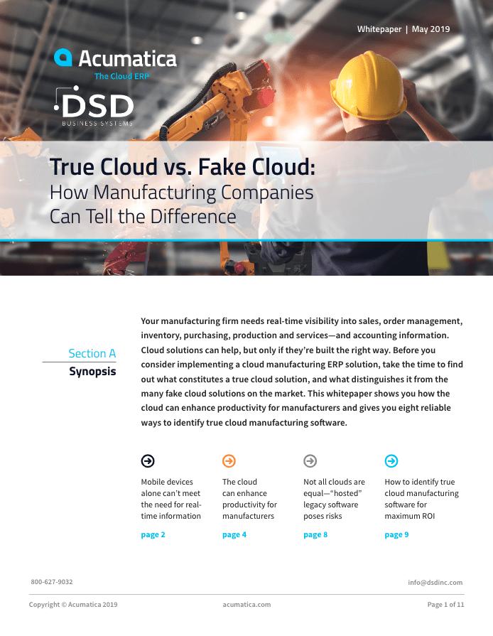 True Cloud vs. Fake Cloud, cloud solution