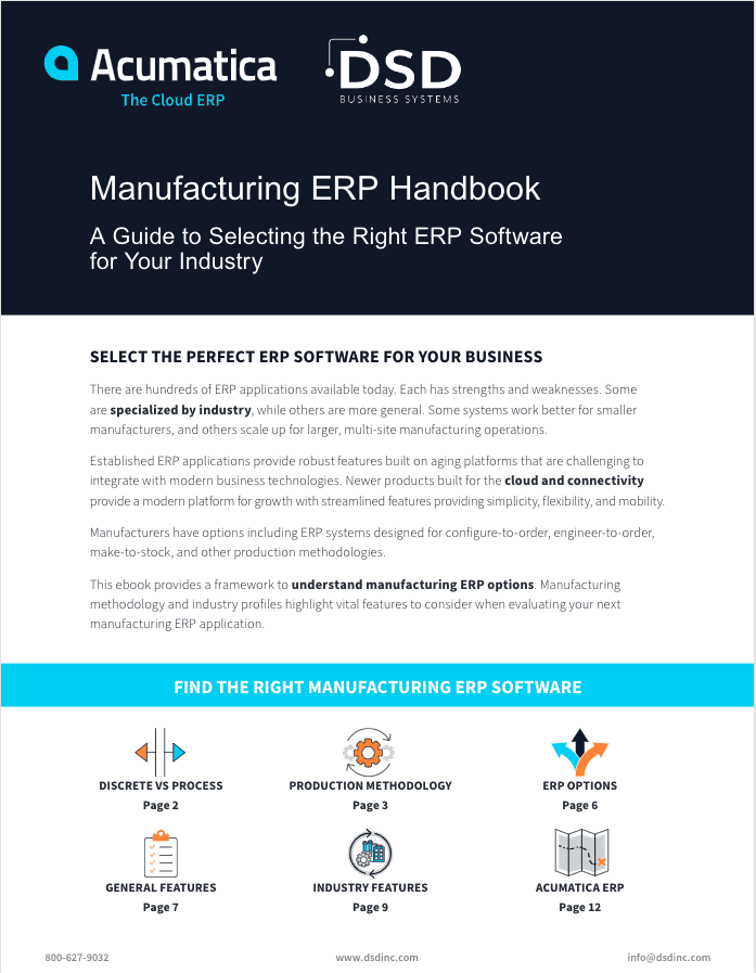 ERP applications, manufacturing ERP