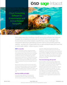 Cloud Accounting Software for Environmental and Animal-Related Nonprofits